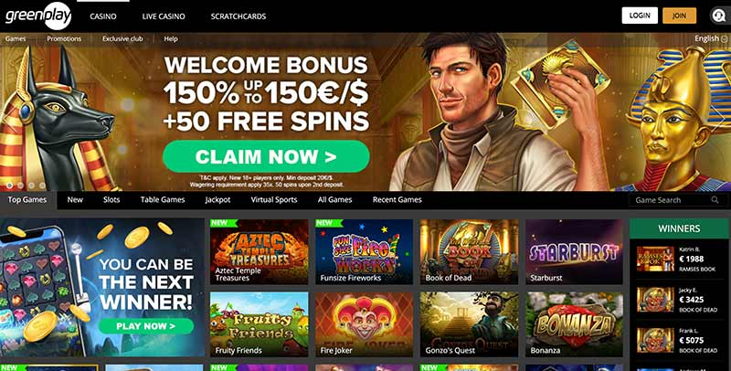 Greenplay Casino Welcome Offer