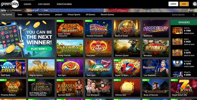 Greenplay Casino Games
