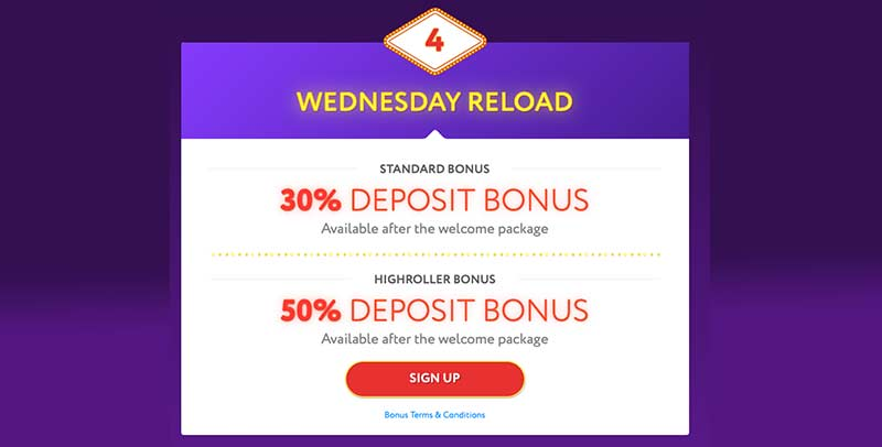 Slotwolf Casino Wednesday Promotion