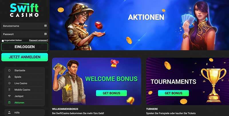 Swift Casino Aktionen