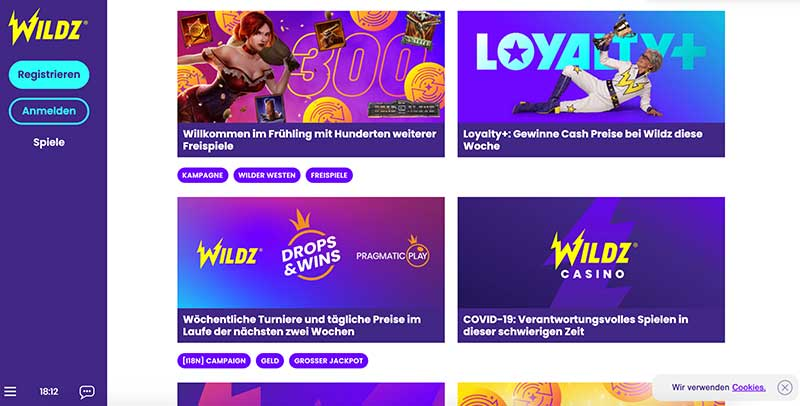 Wildz Casino Aktion