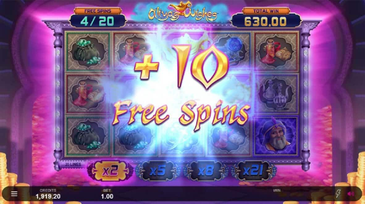 Aliyas Wishes Free Spins