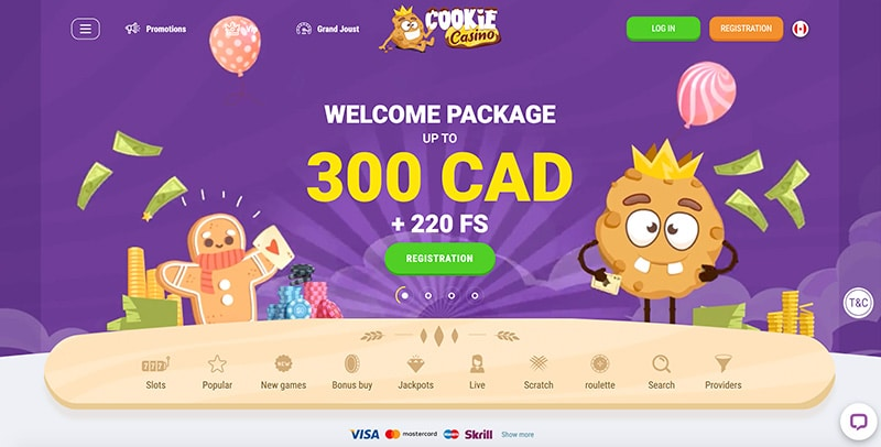Cookie Casino Welcome Offer CA