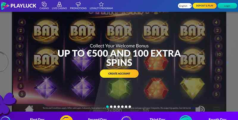 Playluck UK Casino Welcome Offer