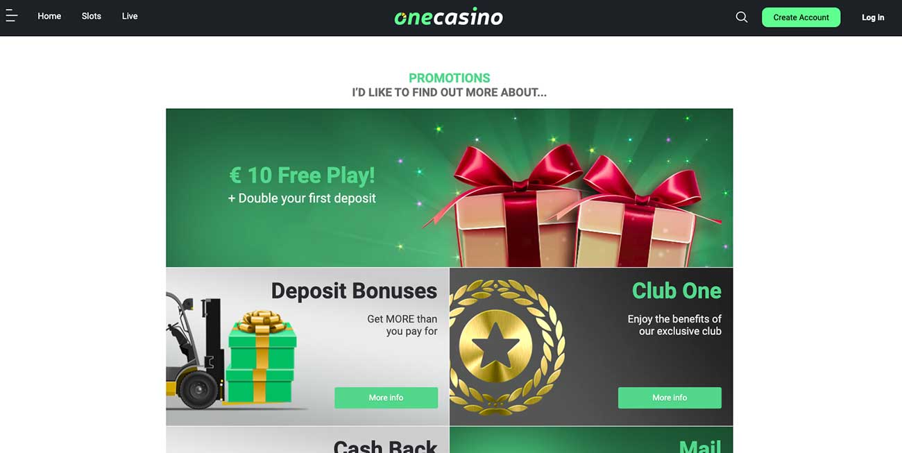 One Casino Promotions in Canada