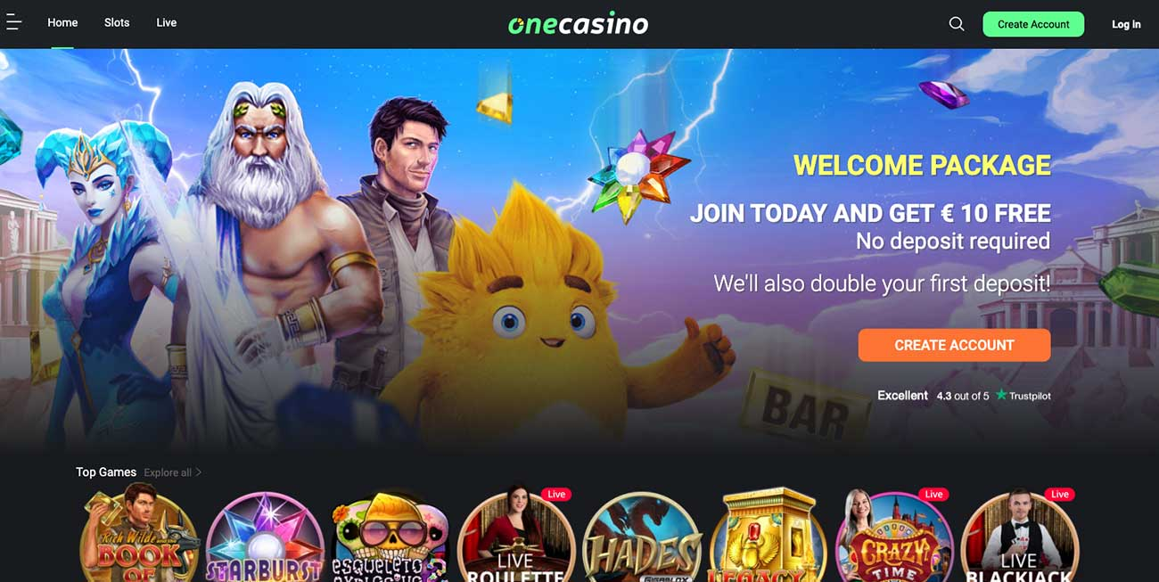 One Casino Welcome offer Canada